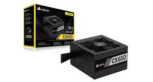 FONTE ATX 650W CORSAIR CX650 80PLUS BRONZE S/CABO