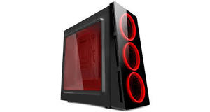 GABINETE ATX PIXXO GAMER 3 FAN LED VERM HTX906E