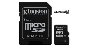 MEMORY CARD MICRO SD 32GB KINGSTON CLASSE 10
