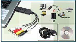 PLACA CAPTURA USB VIDEO AUDIO EASYCAP 4CH P/ RCA COD 1262