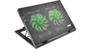 BASE NOTEBOOK MULTILASER AC267 COOLER LED VERDE