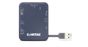 LEITOR DE CARTOES COMTAC USB 2.0 PARA SMART CARD E COMPACT FLASH 9166