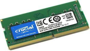 MEMORIA NB DDR4 4GB PC 2400 CRUCIAL