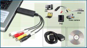 PLACA CAPTURA USB VIDEO AUDIO EASYCAP 4CH P/ RCA