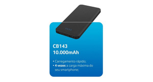 POWER BANK MULTILASER 10000MAH CB143