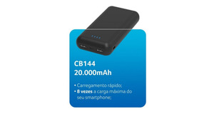 POWER BANK MULTILASER 20000MAH CB144